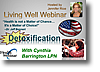Cynthia Barrington LPN and Detoxification