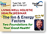 Ion and Energy Factors Webinar