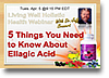 Ellagic Acid Webinar